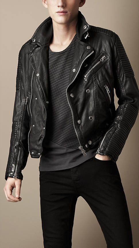 e11c1b9e4 Burberry Brit Quilted Panel Biker Jacket for Koichi/whatever-name-I ...